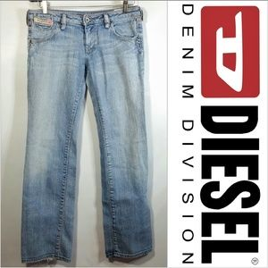 Cheren Distressed Bootcut Jeans Light Wash 29X30